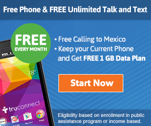 TruConnect Lifeline Free Government Cell Phone