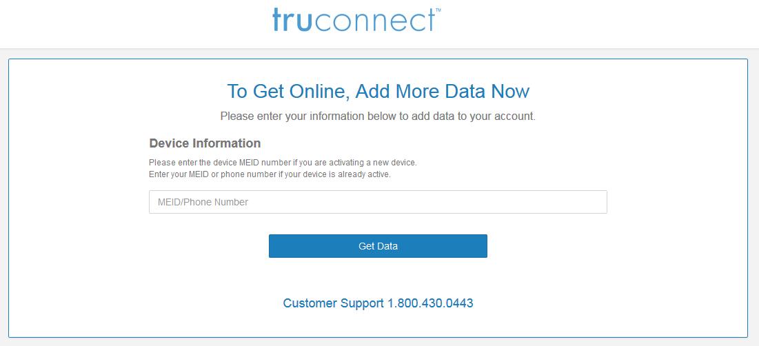 TruConnect ExpressPay Data Refill